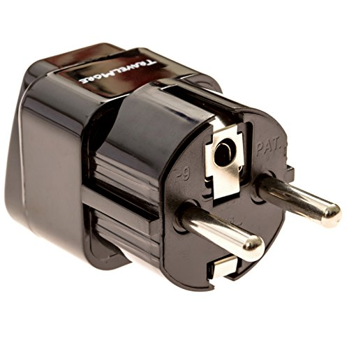 Europe Travel Adapter For European Outlets - Type C, Type E, Type F - Europe Plug Adapter Works In France, Spain, Germany, Netherlands, Belgium, Poland, Russia (Plug Adaptor Spain compare prices)