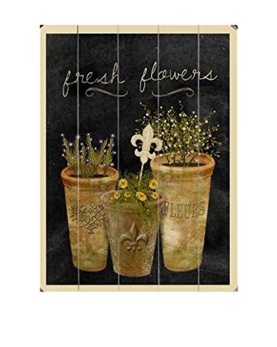 Fresh Flowers Wood Wall Décor