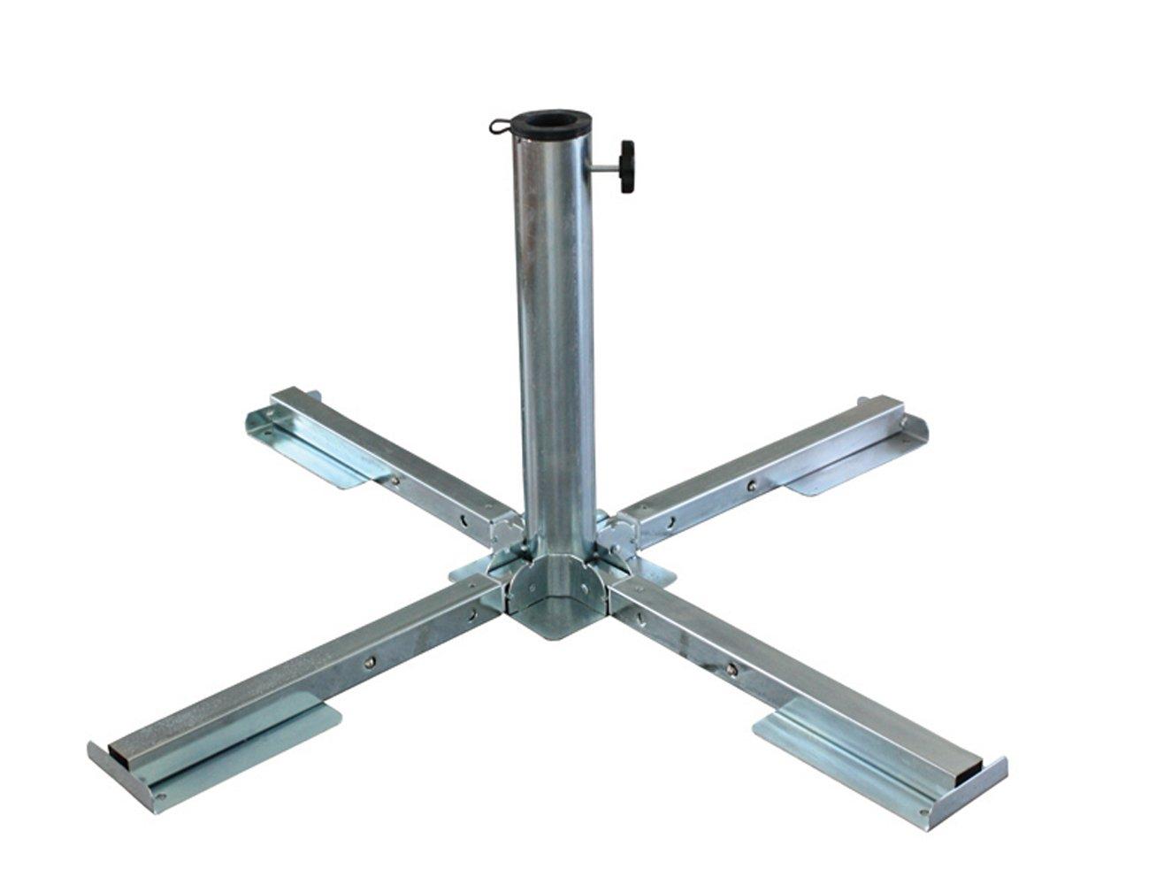 Schirmständer aus verzinktem Stahl zusammenklappbar für Schirmstock, 45 bis 56 mm Brema 920 bestellen