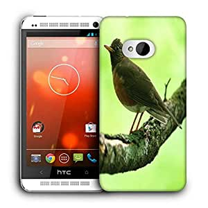 Snoogg Unique Sparrow Printed Protective Phone Back Case Cover For HTC One M7