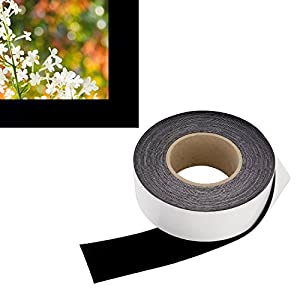 Highest Contrast Projector Screen Tape - DIY Black Velour Felt (2-Inch Wide x 60-Foot Long Roll) Cut To Size - Premium Grade w/ Adhesive Backing - Projector Screen or Paint Border Frame