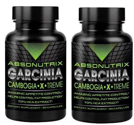 2 Bottles-Absonutrix Garcinia Cambogia 70% Hca 1550Mg Ultra Pure -60Caps Very High Quality