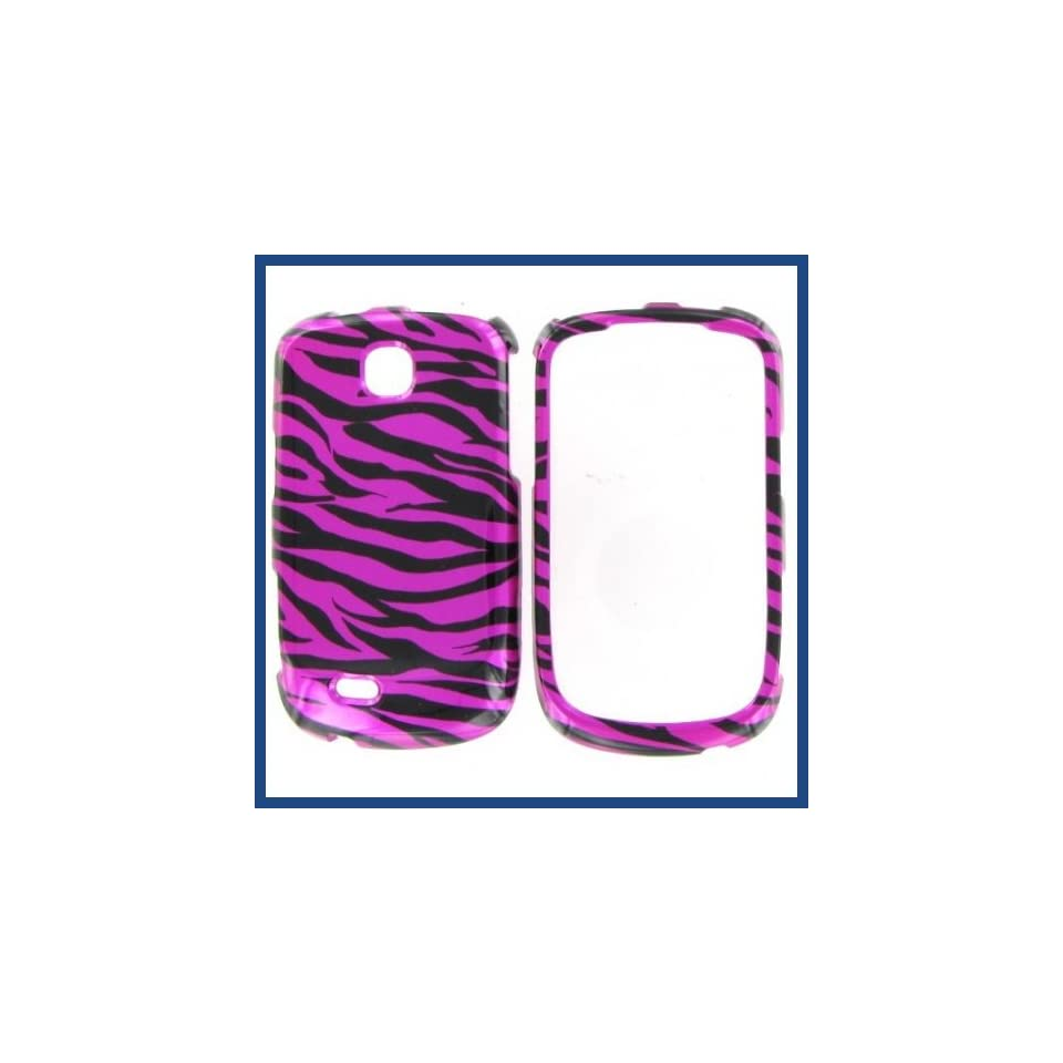 Samsung T499 (Dart) Zebra On Hot Pink (Hot Pink/Black) Protective Case Cell Phones & Accessories