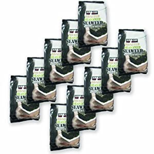 50 Pack Kirkland Signature Roasted Seasoned Seaweed Winter Harvest- 17gm Package by Kirkland Signature