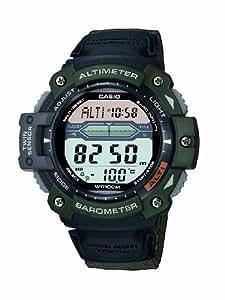 CASIO SGW-300HB-3AVER - Reloj de caballero de cuarzo, correa de otro material color verde (con altímetro, cronómetro, alarma, luz)