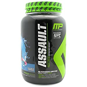 Muscle Pharm Assault Pre-Workout System, Blue Raspberry, 1380 Gram