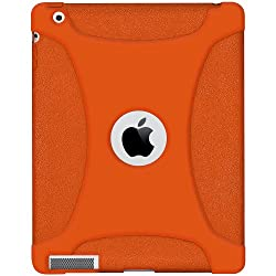 Amzer Silicone Skin Jelly Case for Apple iPad 2 - Orange Color