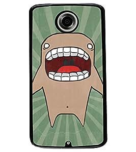 ColourCraft Cartoon Shark Design Back Case Cover for MOTOROLA GOOGLE NEXUS 6