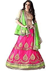 Khushi Trendz Women's Net Semi-Stitched Lehenga Choli Set_KT9188_Multicolored_Freesize