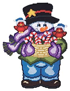 Candy Cane Snowman Plastic Canvas Kit