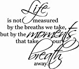 Life is not measured... 23x28 vinyl wall lettering words art sticky home decor phrases quotes