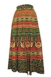 PMS Cotton Multi Color Wrap Around Skirts(Assorted Color & Assorted Design)