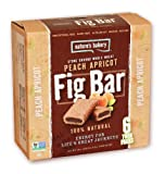 Natures Bakery Whole Wheat Fig Bar, Peach Apricot, 6 Count (Pack of 12)