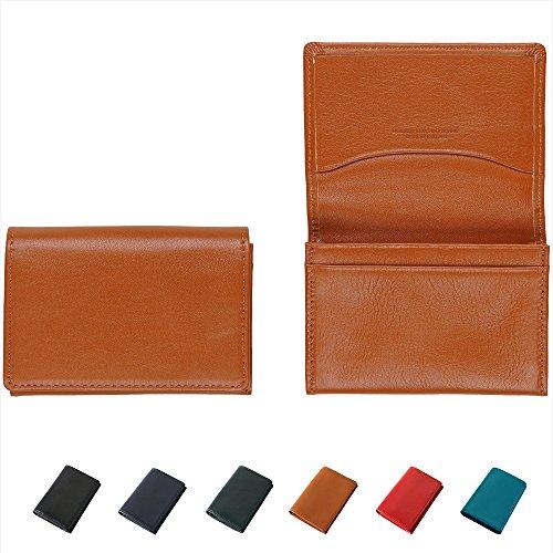 [牛本革] 名刺入れ 名刺ケース Business Leather Factory (キャメルブラウン)