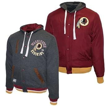 Washington Redskins NFL Legacy Reversible Hoody by MTC Marketing (Grey-Maroon) by MTC Marketing