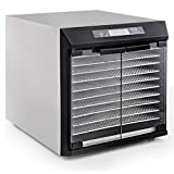 Excalibur 10 Tray Digital Stainless Steel Dehydrator with Glass Doors