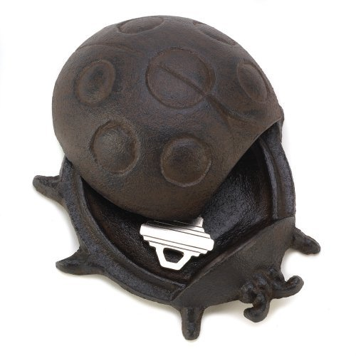 Gifts & Decor Ladybug Cast Iron Key Hider Garden Lawn Decoration Outdoor, Home, Garden, Supply, Maintenance