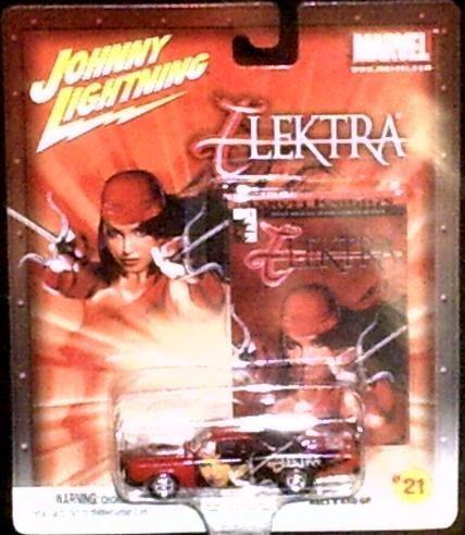 johnny-lightning-marvel-21-elektra-jl-67-pontiac-gto-diecast-car-with-elektra-1-comic-book-trading-c