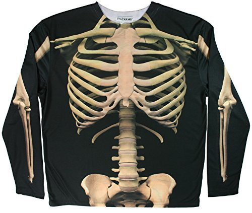 Faux Real Mens Skeleton Halloween Shirt Costume [F118481]