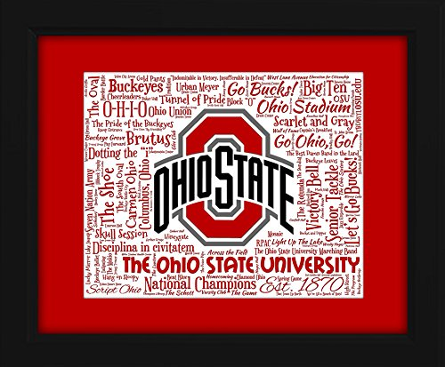 Ohio State University 16x20 Art Piece - Beautifully matted and framed behind glass (Ohio St National Champion 2015 compare prices)
