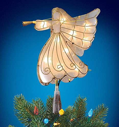 Lighted Angel Christmas Tree Topper Decoration