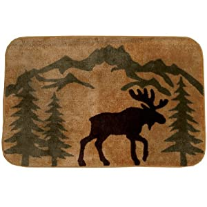 Amazon Com Moose Silhouette Kitchen Bath Rug Cabin