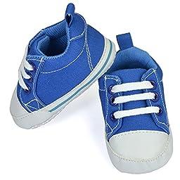 Luvable Friends Basic Canvas Sneaker (Infant), Blue, 6-12 Months M US Infant