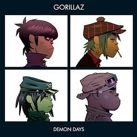 Original album cover of Demon Days by Gorillaz
