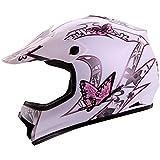 """IV2 """"BUTTERFLY"""" Youth / Kid Size High Performance Motocross, ATV, Dirt Bike Helmet [DOT] (S)"""