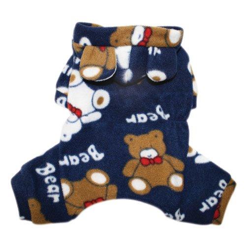 Plush Teddy Bears Fleece Dog Pajamas / Bodysuit