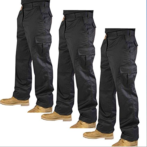 mcintyre-mens-polyester-cotton-cargo-combat-builders-warehouse-workwear-trouser-32-long-black