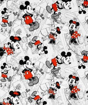 Springs Creative Disney Mickey Vintage Comic Strip Character Toss