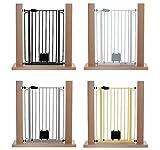 Impag® Extrahoch 105 cm Türschutzgitter Hundeschutzgitter 75 - 149 cm mit Katzenklappe zum Klemmen Ohne Bohren Nala