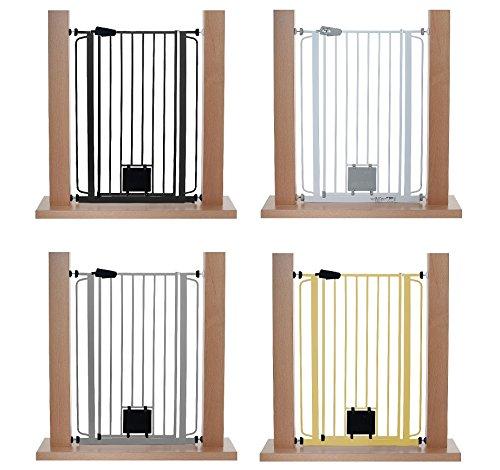 impag extrahoch 105 cm t rschutzgitter hundeschutzgitter 75 149 cm mit katzenklappe zum. Black Bedroom Furniture Sets. Home Design Ideas