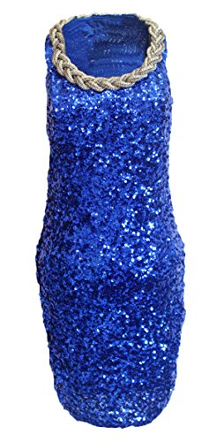 JustinCostume Women Full Sequins Sexy Bodycon 1920s Gatsby Cocktail Party Dress