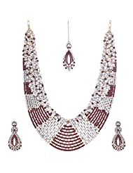 Nimble Golden Metal Chain Necklace Set For Women