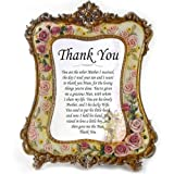 "Mother of Groom Wedding Gifts - Personalised, Wedding, ""Thank You"" To Mother of Groom From Bride, Appreciation Gift Frame with Unique Verse"