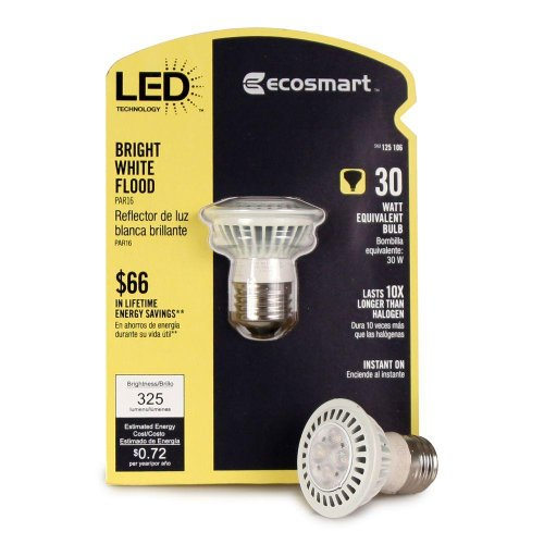 Ecosmart 125106 Par16 6-Watt (30W) Bright White (3000K) Led Flood Light Bulb