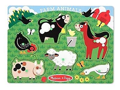 Melissa & Doug Farm Animals Peg Puzzle by Melissa & Doug