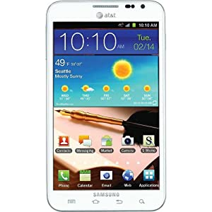 Samsung I717 Galaxy Note 4G Quad-Band GSM Smartphone - White - Unlocked
