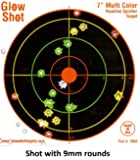 "100 pack - 7"" Reactive Splatter Targets - GlowShot - Multi Color - See Your Hits Instantly - Gun, Rifle & Airsoft Targets"