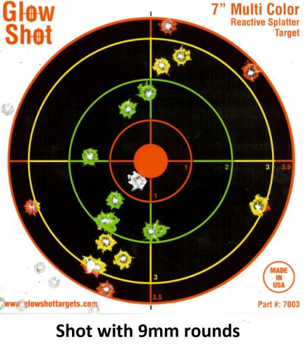 "Best Deals! 100 pack - 7"" Reactive Splatter Targets - GlowShot - Multi Color - See Your Hits In..."