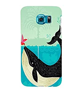 Bird and a Whale 3D Hard Polycarbonate Designer Back Case Cover for Samsung Galaxy S6 Edge+ :: Samsung Galaxy S6 Edge Plus :: Samsung Galaxy S6 Edge+ G928G :: Samsung Galaxy S6 Edge+ G928F G928T G928A G928I