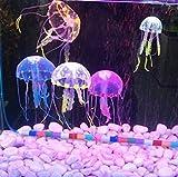 Agooding Artificial Fluorescent Jellyfish Aquarium Fish Tank Ornament (Pack of 5)