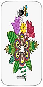 Snoogg floral background Designer Protective Back Case Cover For Micromax A116