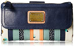 Fossil Emory Zip Wallet, Blue/Multi, One Size