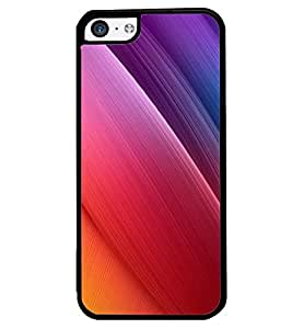 Printvisa Pink Purple Gradation Abstract Background Back Case Cover for Apple iPhone 5C