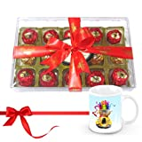 Melting Moment Wrapped Choco Treat With Christmas Mug - Chocholik Luxury Chocolates