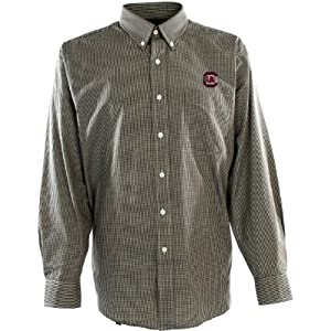Antigua Mens South Carolina Gamecocks Focus Cotton Polyester Woven Mini Check B by Antigua