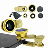 Dragon 3 in 1 Camera Lens Kit for Smart phones (including iPhone, Samsung Galaxy, HTC, Motorola and More), Tablets, iPad, and Laptops includes One Fish Eye Lens / One 2 in 1 Macro Lens and Wide Angle Lens / One Universal Clip / One Microfiber Carrying Bag